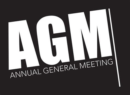 AGM 2020 results, and a cheers to the outgoing team President.