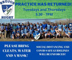 Brujos Practice Location Changed! Will Practice at Phil Chacon on Thursday April 29th.