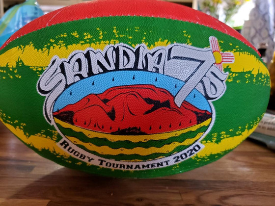 Sandia 7s Tournament balls now for sale! Tournament postponed for 2020.