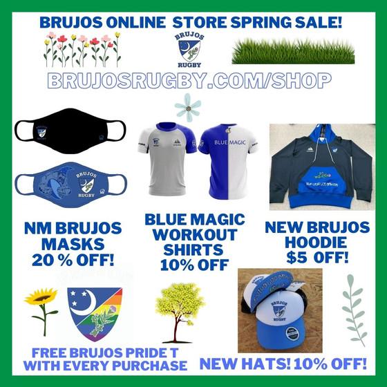 NM Brujos Spring Merchandise Sale! Brujos Practice Continues, AYRU Spring Friendlies Every Saturday