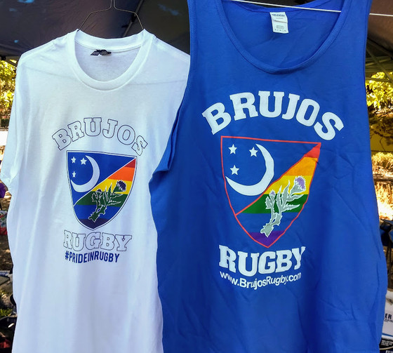Volunteers needed for fundraiser, Limited #PrideInRugby shirts still for sale, and other Brujos news