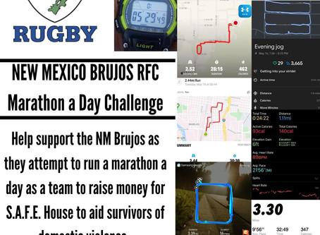 NM Brujos Marathon a Day Challenge and S.A.F.E House Fundraiser week 3 recap: Brujos log over 800 mi