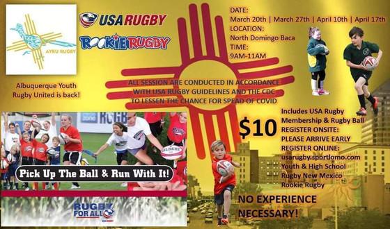 AYRU Rookie Rugby Camp Enters Final Week, NM Brujos Spring Practice Numbers Inspire Hope.