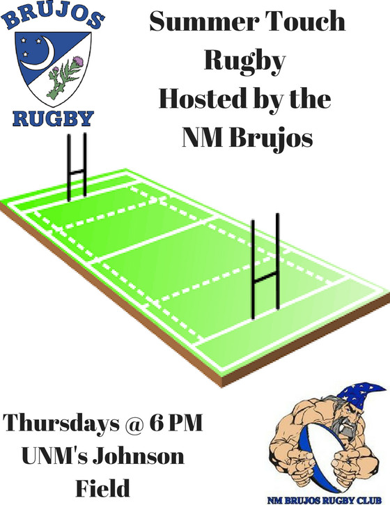 Brujos BBQ this Saturday, Summer touch rugby, Summer tournaments, and other June Brujos news.