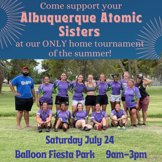 Atomic Sisters home tournament at Balloon Fiesta this Saturday! NM Brujos Fall schedule takes shape.