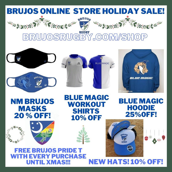 NM Brujos Online Store Holiday Sale! Free T-Shirt with Every Purchase!