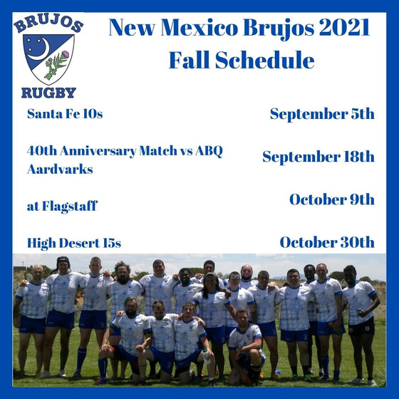 NM Brujos 2021 Fall schedule released. 40th anniversary Wizardfest update. AGM this Saturday.