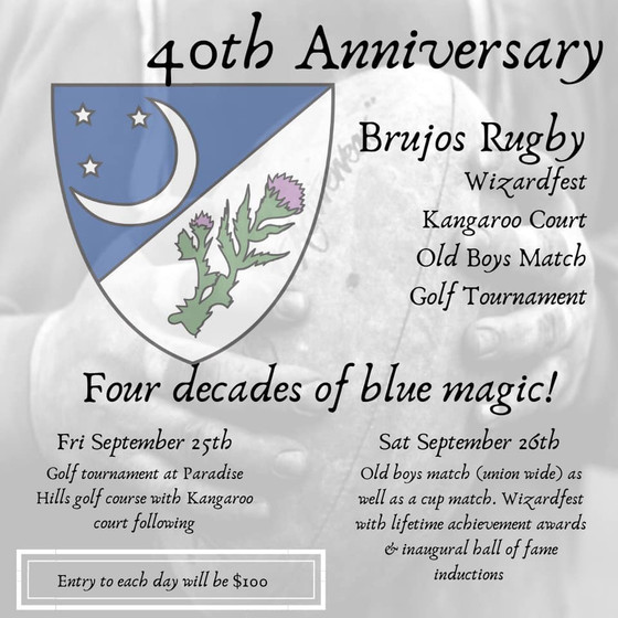 Brujos Announce 40th Anniversary Celebration and More February Brujos News.