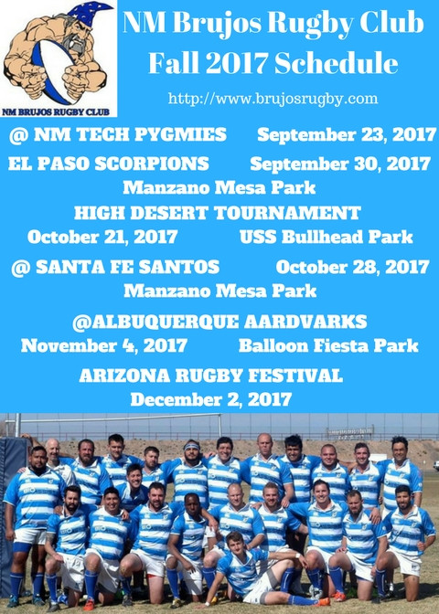 Brujos Fall 2017 Schedule Announced