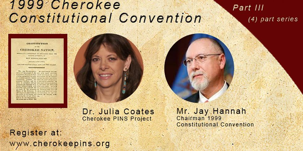 Webinar Cherokee Constitutional Convention