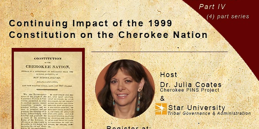 Continuing Impact of the 1999 Constitution on the Cherokee Nation
