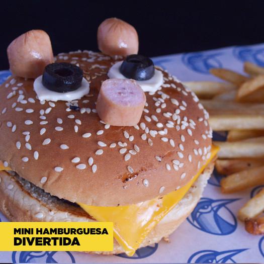 Mini Hamburguesa Divertida