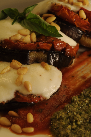 Roasted Eggplant and Fresh Mozz