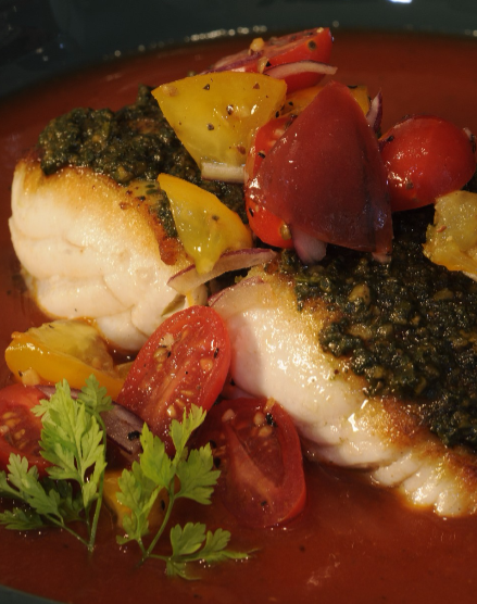 Herb-Crusted Halibut