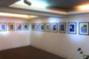 Sala de Exposición con ilustraciones del ilustrador juan josé fernández, Caja los Andes, Comunicación