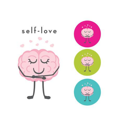The CogniDiet Self-Love Brain Illustration