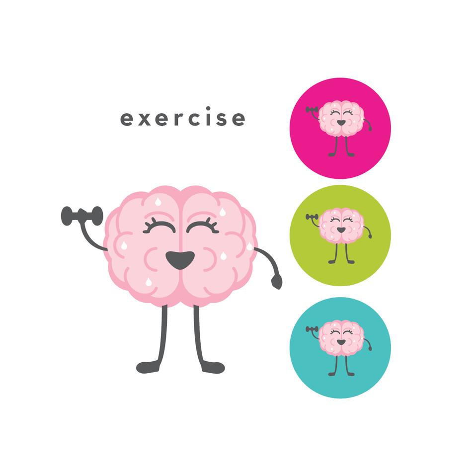 The CogniDiet Exercising Brain Illustration