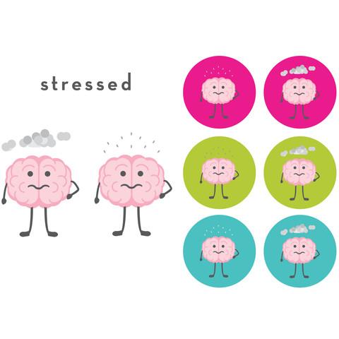 The CogniDiet Stressed Brain Illustration