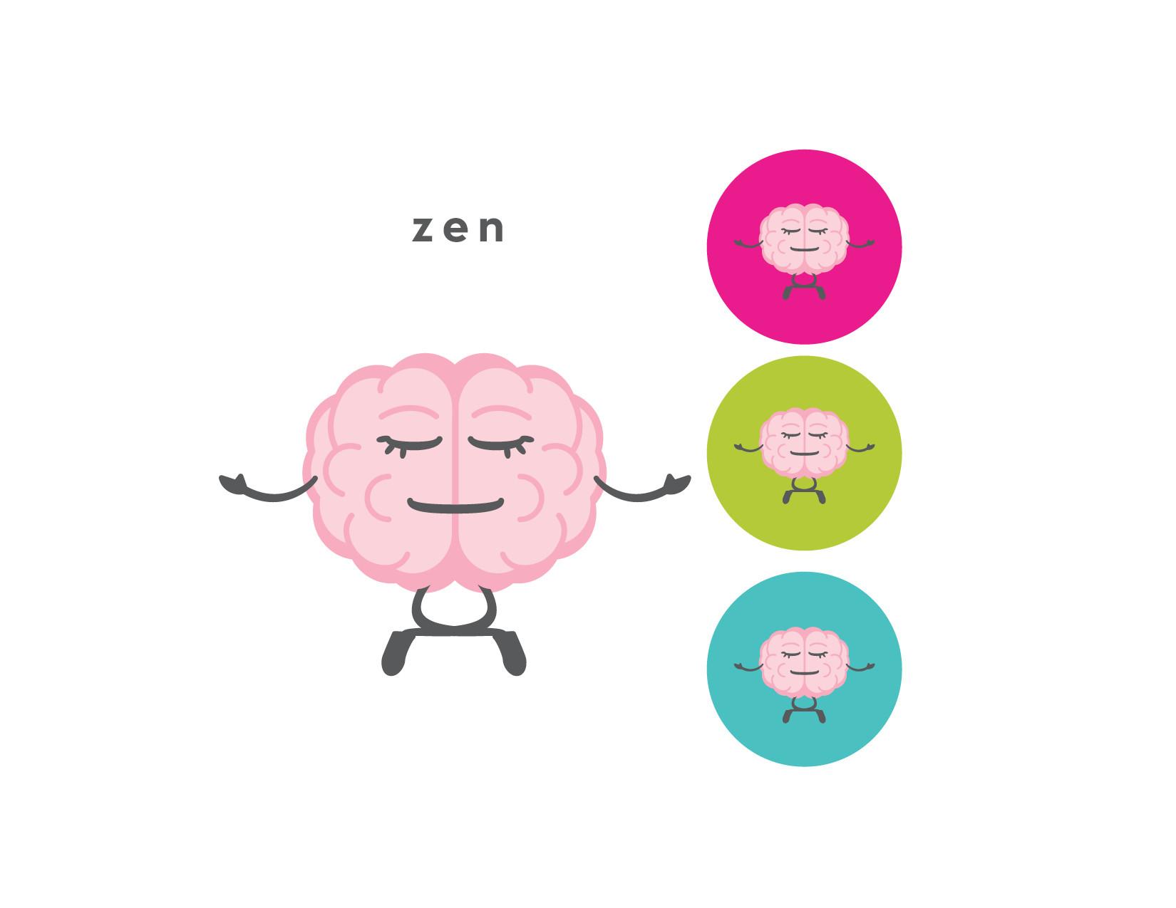 The CogniDiet Zen Brain Illustration