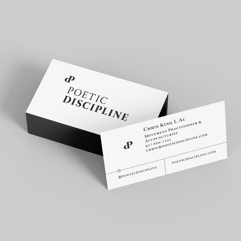 Poetic Discipline Business Cards