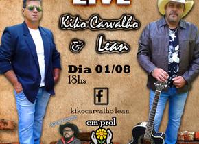 Dupla Kiko Carvalho e Lean realizará segunda Live, dessa vez em prol a APAE de Brotas