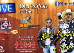 Dupla de Brotas Kiko Carvalho e Lean realizou live solidária