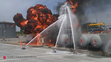 Explosion-Proof Fire Fighting Robot Field Test- 1 September 2016