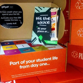 Freshers' Welcome Week Package: Condom, Pot-Noodle, Viral Load, PPE