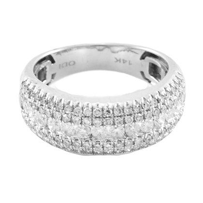 14ct Diamond Half Eternity ring
