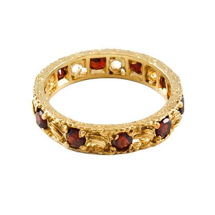 9ct Gold & Garnet Eternity