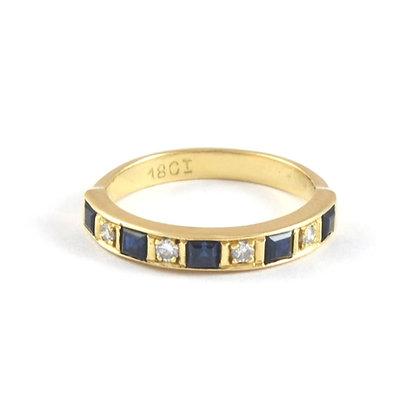 18ct Yellow Diamond Sapphire