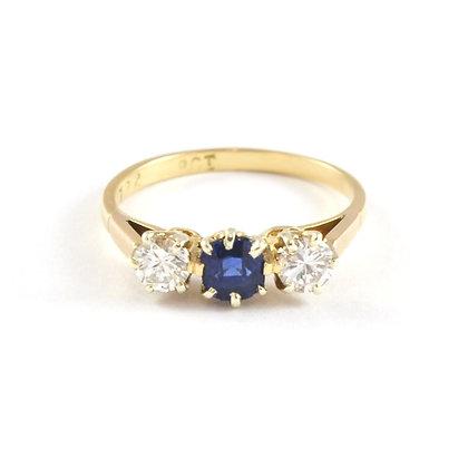 18ct Diamond & Sapphire