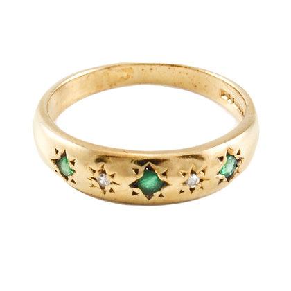 9ct Diamond & Emerald