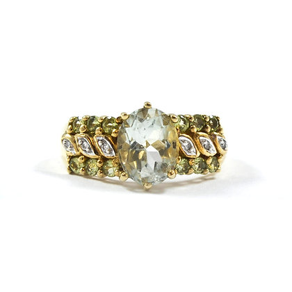 9ct Diamond Peridot & Axinite
