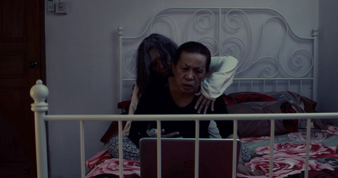 The succubus hugs Mother