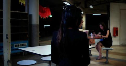 Midori appears at hawker centre