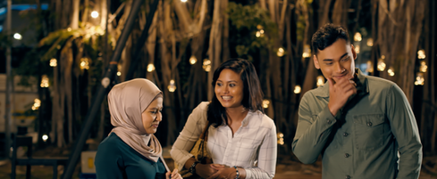 Not My Mother's Baking Movie Still - Best friend Tini refuses to be the third wheel between Sarah & Imran