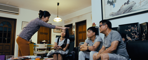 Not My Mother's Baking Movie Still - Mdm Tan scolds her son Edwin for seeing Sarah