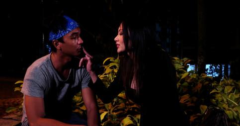 Haqim and the sensual Midori share their first kiss