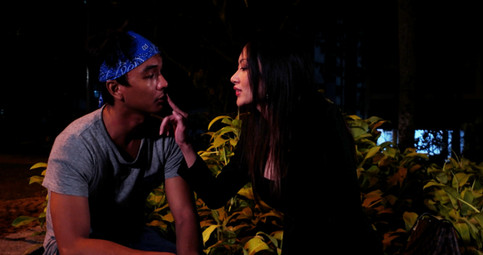 Haqim and the sensual Midori share their first kiss