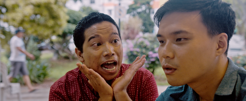 Not My Mother's Baking Movie Still - Matin counsels Edwin on matters of the heart