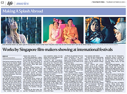 Works by Singapore film-makers showing at international festivals