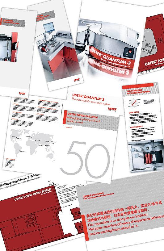 Grafik, Gestaltung, Werbebanner, Produktposter, Produktbeschriftung, News Bulletin, Plakate, Uster Technologie AG