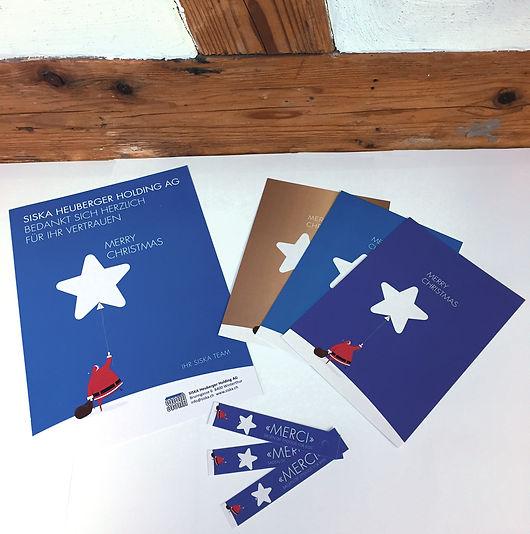 Grafik, Gestaltung, Produktionskoordination, Weihnachtskarte, Dankesetikette, Hotel Banana City Winterthur, Hotel illuster, SISKA Heuberger Holding AG
