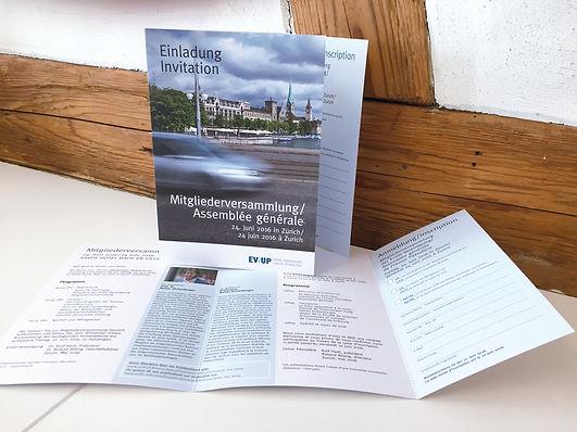 Konzept, Gestaltung, Satz, Bildbearbeitung, Einladung Mitgliederversammlung 2016, Erdöl-Vereinigung