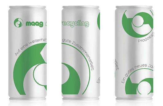 Grafik, Gestaltung, Produktionskoordination, Neujahrsgeschenk, Weihnachtsgeschenk, Dose, Geschenk, Maag Recycling AG