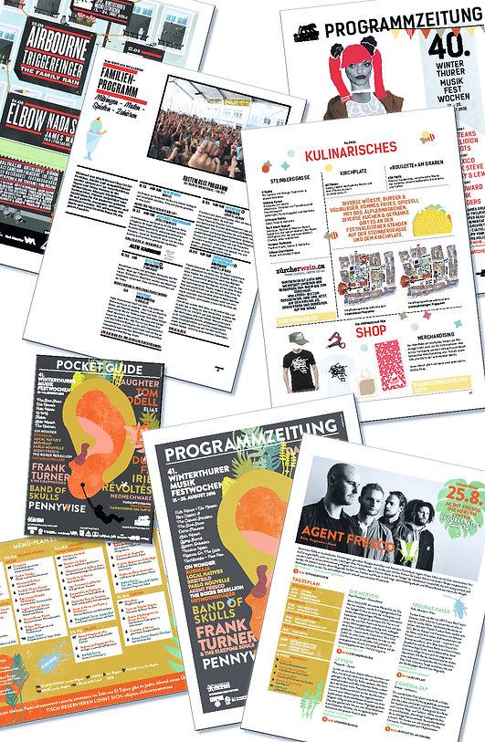Grafik, Gestaltung, Satz, Bildbearbeitung, Programm Zeitung, Programmzeitung, Musik, Verein Winterthurer Musikfestwochen