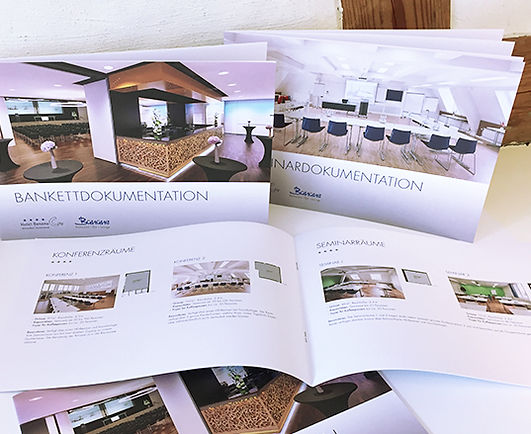 Grafik, Gestaltung, Produktionskoordination, Factsheet, Bankettdokumentation, Seminardokumentation, Dokumentation, Hotel Banana City Winterthur