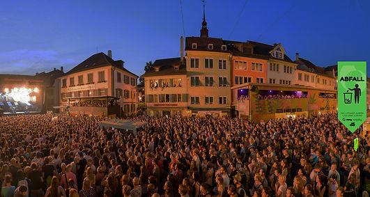 Grafik, Gestaltung, Produktionskoordination, Abfallfahne, Abfall-Wimpel, Festivalwimpel, Musikfestwochen Winterthur, Maag Recycling AG