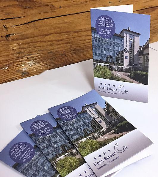 Grafik, Gestaltung, Produktionskoordination, Keycard Mappe, Schlüsselkarte-Mappe, Hotel Banana City Winterthur